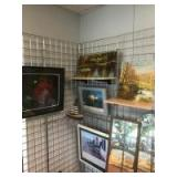 Large selection of framed prints and mirrors, for reference the mirrors are approx 45 inches tall