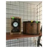 NEW Clock and newer made keepsake box