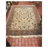 66 x 90 inch area rug with fringe