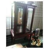 Small Glass Front Display or curio cabinet, approx 41 inches tall