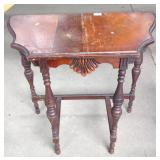 Antique Walnut Scalloped Hall Table