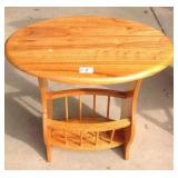 Contemporary Wood Magazine Table