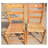 Antique Woven Cane Ladder Back Chairs