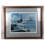 Framed Skipjack Lithograph Signed by Artist
