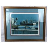 Framed Waterman Lithograph Signed by Artist