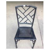 Painted Aluminum Bamboo Style Chair