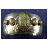 Beautiful Hammered Sterling Silver Cuff Bracelet