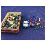 Small Box of Tiny Vintage 1 Inch Plastic Figures