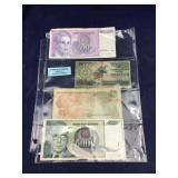 Four Foreign Paper Money (Including North Korea)