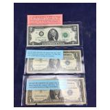 1976 $2 Note & Two Silver Certificates