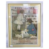 Framed Antique Advertisement Art Print