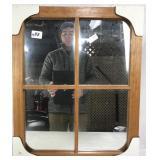 Mirror Window in Wooden Frame