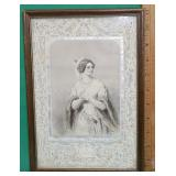 Early Engraving Set in Original Frame - Le Collier