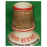 Vintage Cassis Quenot Advertising Match Holder