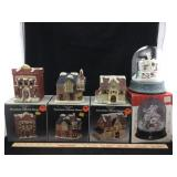 Porcelain Lighted Houses & Musical Snowstorm