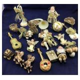 Ivory and Gold Colored Christmas Ornaments