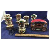 Working Lighted Musical Calliope Horse Ornaments