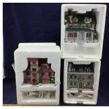 3 Boxed Colonial and Swiss Village Buildings