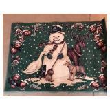 Christmas Snowman Area Rug