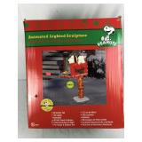 Snoopy Christmas Animated Lighted Sculpture