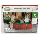 Christmas Inflatable Animated Pool Time Decoration