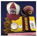 6 Pieces of Vintage Washington Redskins