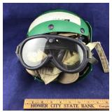 Vintage Aircraft Maintenance Helmet and Goggles