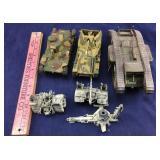 6 Vintage Toys including 3 Tanks