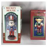 Vintage Mickey Mouse and Skating Bear Nutcrackers
