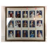 Framed Pictures of Stamps of Vintage Dolls