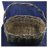 Vintage Basket with Blue Paint