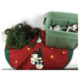 Christmas Tree Rug, Lights, Decorations, Ribbon