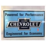 Metal Chevrolet Sign