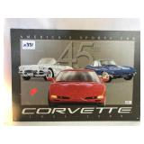 Metal Corvette Sign