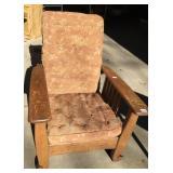Antique Oak Morris Chair Recliner