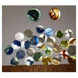 Collection of Early Cats Eye Marbles