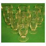 6 Vintage Footed Soda Fountain Sundae Glasses
