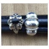 Pair of Ladies Sterling Silver Rings