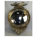 Gold Gilded Convex Eagle Mirror