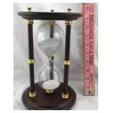 Wood and Brass Hourglass