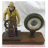 Barometer with Sea Captain Figure
