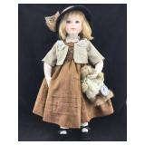 Delton Porcelain & Cloth Doll with Glass Eyes