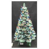 Two Piece Lighted Ceramic Christmas Tree