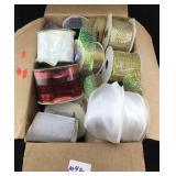 Box of Wire and Cloth Ribbon