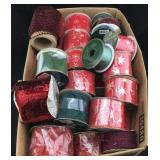 Large Box of Wire & Cloth Craft Ribbon