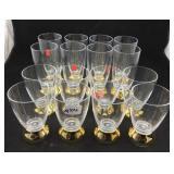 16 Plastic Holiday Glasses
