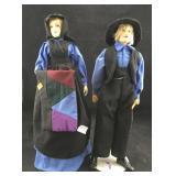 Amish Porcelain Doll Couple