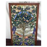Tiffany Style Stained Glass Panel, Tree