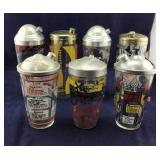 Seven Assorted Old Drink Shakers, Many With