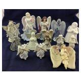 Assortment Of Angels- Ceramic, Metal, Acrylic Plus